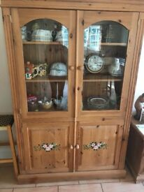 SOLID PINE DRESSER IN VERY GOOD USED CONDITION VERY NICE ITEM HAND PAINTED FLOWERS ,,LOCAL DELIVERY