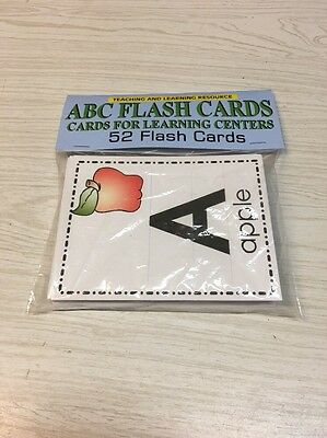 ABC FLASH CARD - Cards for Learning Center 52 Cards- Teaching supplies