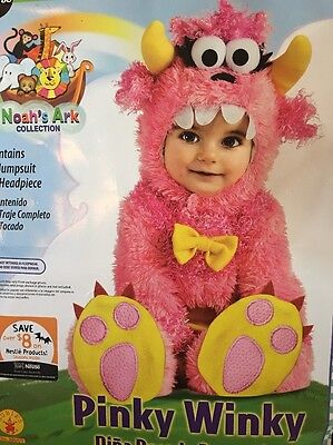 Monster Romper Costume, Pink, 6-12 Months Baby Halloween Costume Pinky Winky