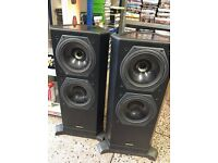 Rare Tannoy 611 Dual concentric Speakers 2ft High Beautiful Sound Good Condition