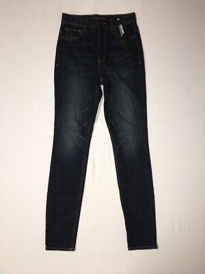 Express Womens Jeans Legging 4 Reg Inseam 30 Super High Rise Button Fly NWT