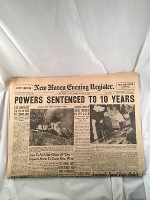New Haven Evening Register Complete Newspaper Vintage Connecticut August 19 1960