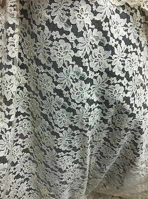 """French Alencon Needle Lace Tablecloth  90"""" And Runner  Beautiful!"""