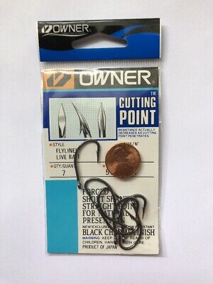 OWNER Flyliner 1/0 Live Bait Hooks 5106-111 Qty 7 pcs/pack Cutting Point