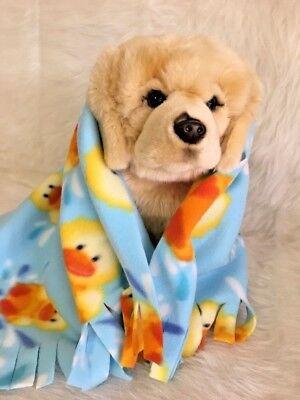 YELLOW DUCK  Fuzee Fleece Dog Blankets, Soft Pet Blanket Travel Throw Cover