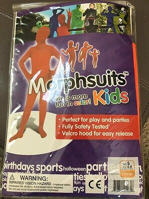 Morphsuits Kids Original Costume Theater Dress up Halloween Orange, Small New