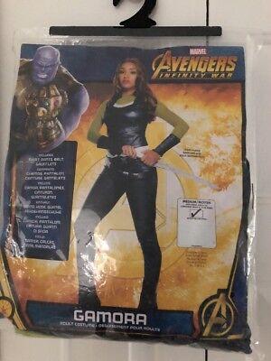 NEW Marvel Gamora Guardians of the Galaxy Halloween Costume Adult Sz M 6-10 NWT