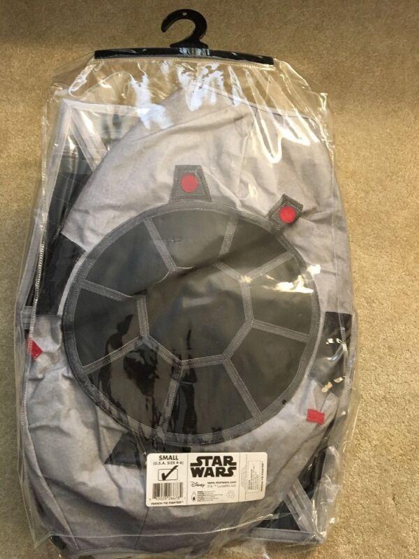 New NWT Disney Star Wars Tie Fighter 3D Halloween Costume 4-6