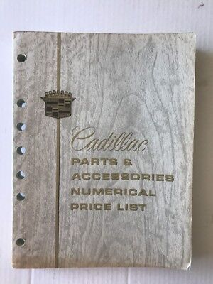 Cadillac Parts And Accessories Numerical Price List - Late 1960s - CLEAN