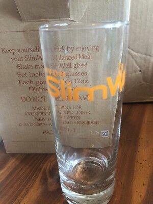Avon Slim Well 12oz Glasses Set Of 2 In Box