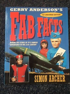 GERRY ANDERSON'S FAB FACTS SIMON ARCHER 1993 RARE 1st UNIVERSE EDITION BOOK