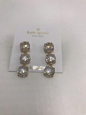 $68 Kate Spade gold tone triple drop Earrings Z1aa