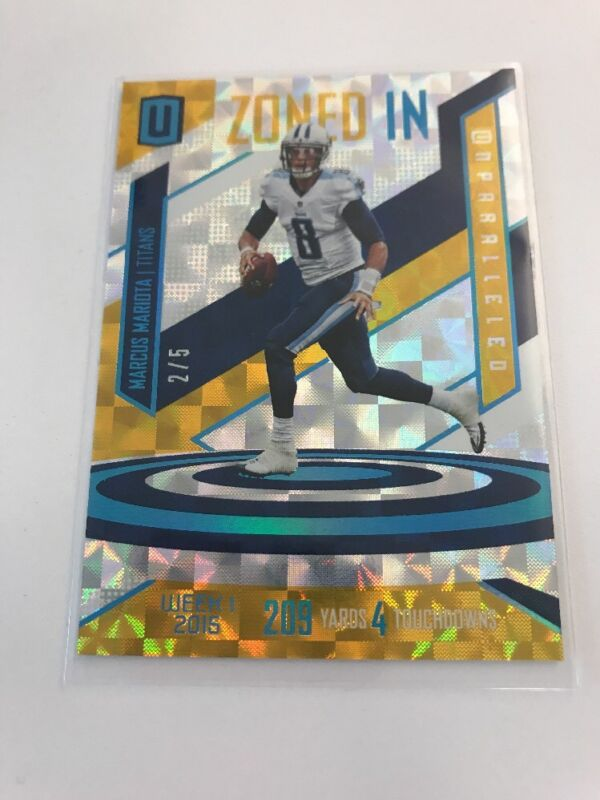 Marcus Mariota Gold Parallel 2/5 2016 Unparalleled Zoned In