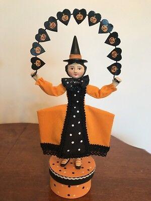 Bethany Lowe Allen Cunningham Halloween Witch Loves Pumpkin Garland—Retired