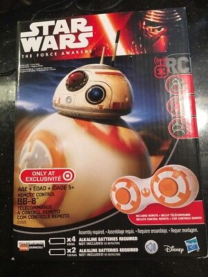 STAR WARS the Force Awakens BB-8 REMOTE CONTROL Droid Target Exclusive New