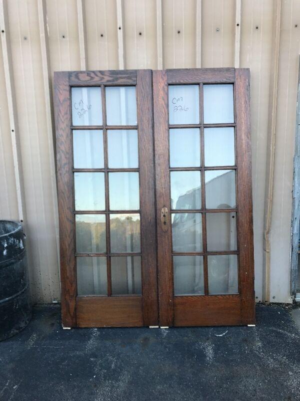 Cm 226 Match Pair Antique French Doors Oak 5