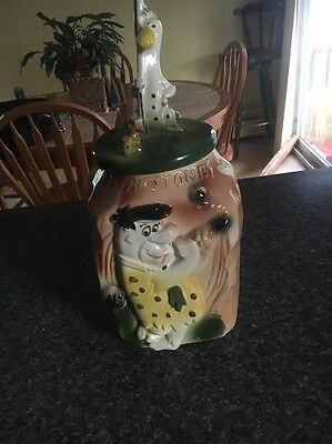 FLINTSTONES FRED & DINO GOLF COOKIE JAR RARE 1960 Great Condition For It's Age