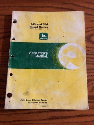 Original John Deere 446546 Round Hay Baler Operators Owners Manual Ome86575