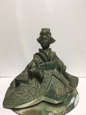 Rare Austin Productions A. Danel Sculpture Japanese Fashion Lady 1989
