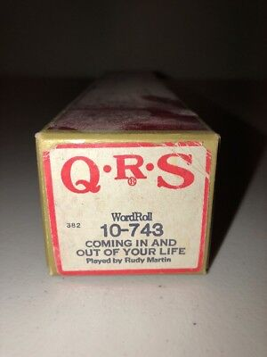 QRS 382 Player Piano Word Roll 10-743 Coming In And Out Of Your Life Rudy