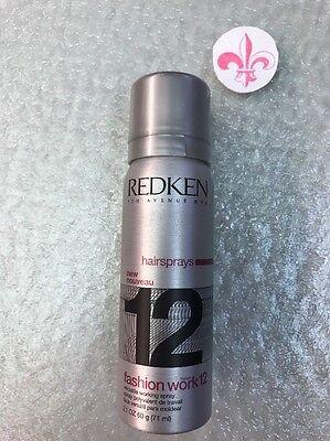 Redken Fashion Works 12 Hairspray Travel sz 2.1 oz Versatile Working Hair Spray