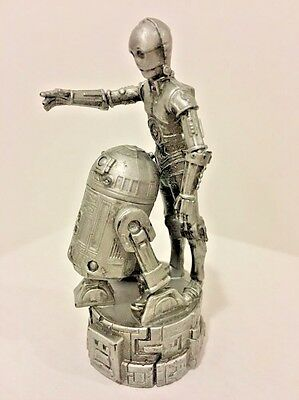 Used, Star Wars R2D2 & C3P0 Cake Topper Silver Saga Chess Replacement Piece for sale  Washington