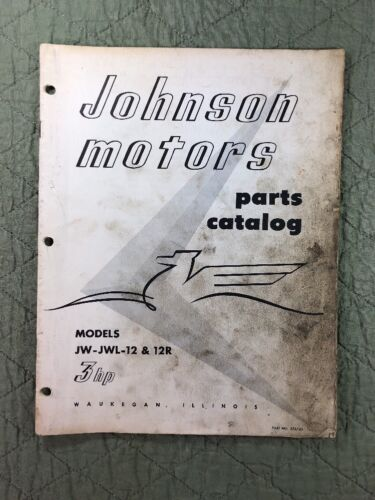 1956 JOHNSON OMC PARTS CATALOG LIST MANUAL - 3 HP MODELS P/N 376743 DEALER