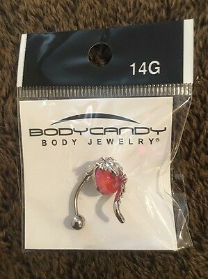 - Body Candy 14 Gauge Belly Button Ring Salamander On Pink Jewel New NIP