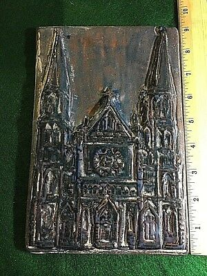 "Detroit Clay Company Large Pewabic St. Annes Church Detroit High Relief 6"" X 9"""