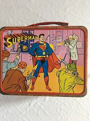 1967 Vintage Superman  Lunch Pail /No Thermos . Rarity -6 . Grade -5