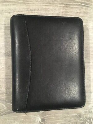 Franklin Covey 6 Ring Binder Small Planner Black Leather