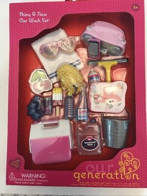 Our Generation Shiny and New Car Wash Set for 18-Inch Dolls New