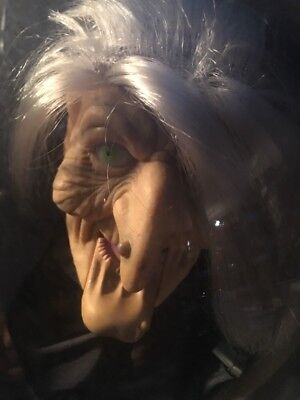 """FORTUNE TELLING WITCH 9"""" GEMMY ANIMATRONIC  PROP"""