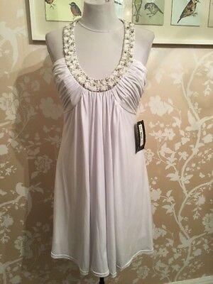 JS Boutique Size 10 White Sequin Dress BNWT