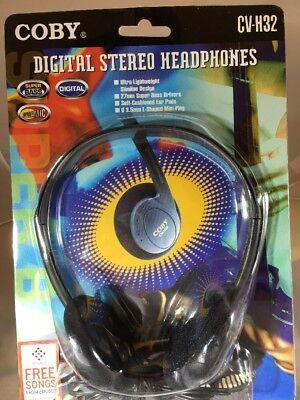 Coby *New* CV-H32 Digital Stereo Headphones Lightweight Super Bass: