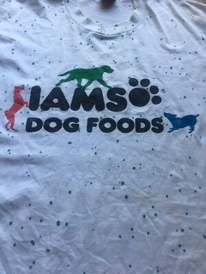 Vtg Best Brand Iams Dog Food 50 Cotton 50 Poly Blend Made In Usa 2XL