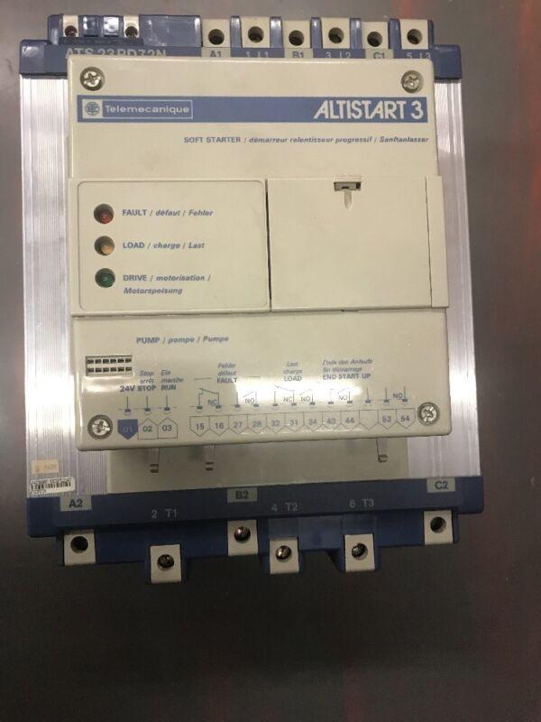 Telemecanique Altistart3 SOFT STARTER MODEL # ATS23PD72N