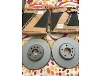 Bmw 7 Series BNew Front Brake Discs Left And Right Zimmermann Genuine 2012-2015