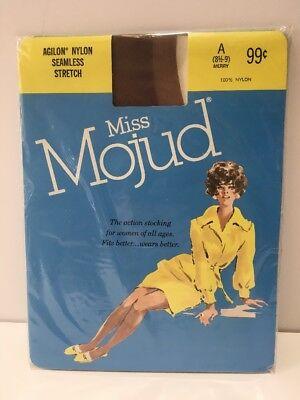 Vintage NIP Mojud Agilon Stockings Seamless Stretch Nylon Merry A 8.5 - 9