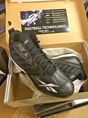 Reebok Audible Mid Ii D Black White Football Cleats New No Box