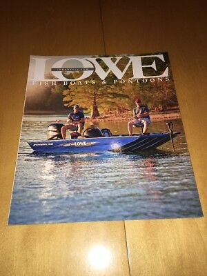 2015 Lowe Boats Fishing Catalog Brochure Stinger Stryker Skorpion Pontoon Xtreme