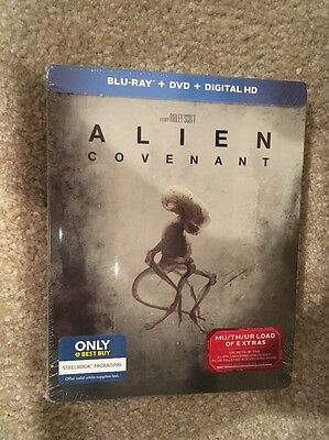 Alien Covenant   Bluray Dvd Digital Hd Steel Book Bestbuy Exclusive Brand New
