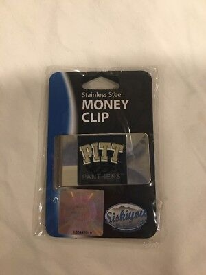New PITT University Of Pittsburgh Panthers Stainless Steel Money Clip ()