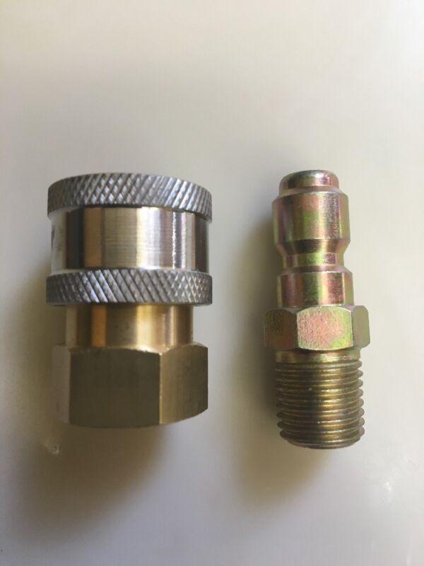 "Pressure Washer 1/4"" NPT Quick Coupler Disconnect Socket Set  4500 psi"