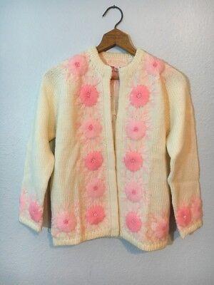 NOS Vtg 50's Wool Cardigan Sweater, Fully Fashioned 36, Rockabilly Cardigan