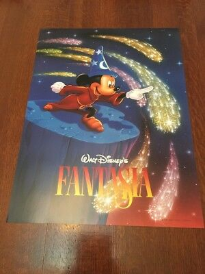 NOS 18 X 24 Inch WALT DISNEY MICKEY MOUSE FANTASIA POSTER RARE HARD TO FIND - Mickey Mouse Poster