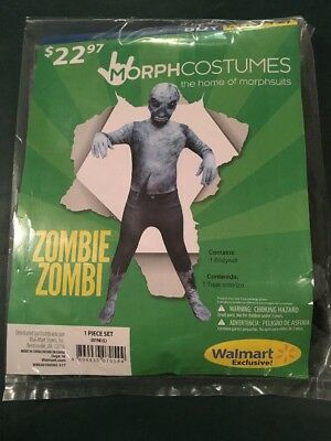 Halloween Costume Morph costume Zombie Boys Large 10-12 New](Boys Zombie Halloween Costumes)
