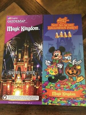 Walt Disney World Magic Kingdom Halloween Party 2-Map Set 2017