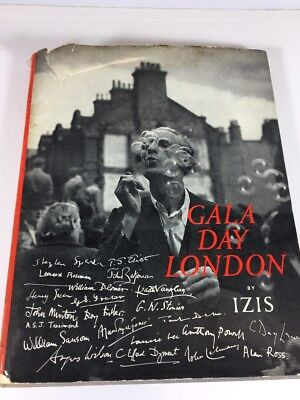 Used, Gala Day London Hardcover Book Izis Bidermanas Photography Poems Harvill 1953 for sale  Shipping to India