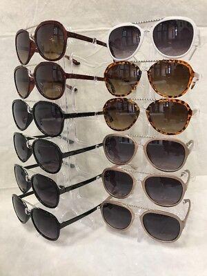 CW8148 Metal And Plastic Frame Aviator Sunglasses Wholesale 12 pair - Plastic Sunglasses Wholesale